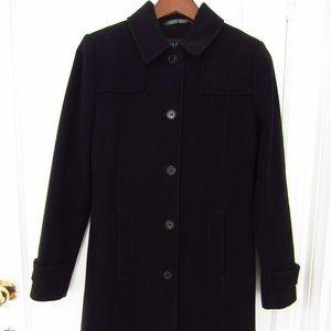 Kenneth Cole Reaction Peacoat Jacket Black Wool